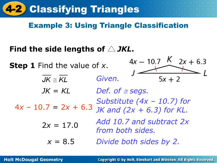 Example 3: Using Triangle Classification