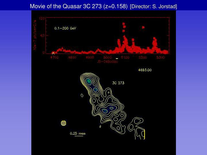 Movie of the Quasar 3C 273 (z=0.158)
