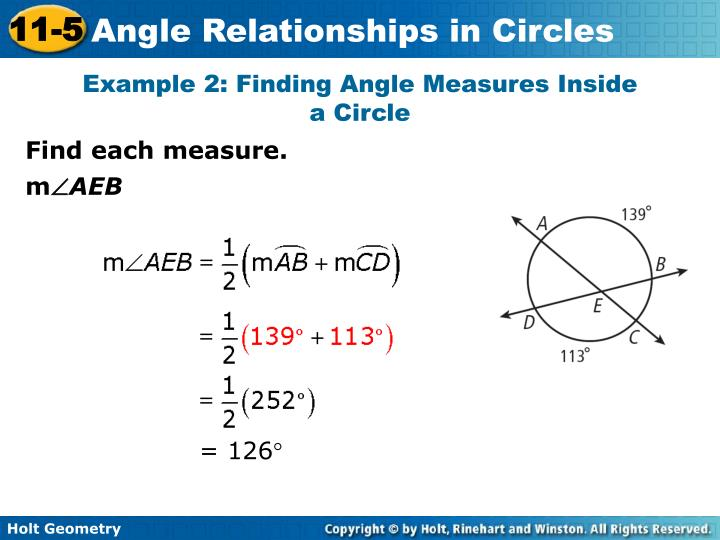 Example 2: Finding Angle Measures Inside