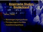 empirische studien deutschland