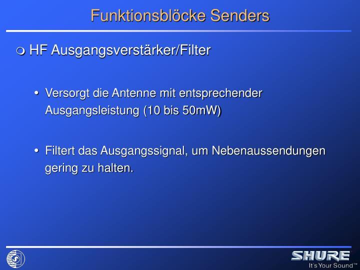 Funktionsblöcke Senders