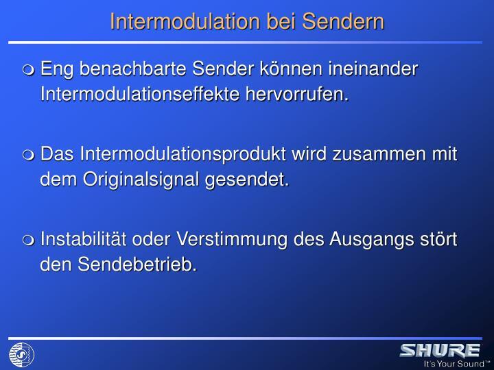 Intermodulation bei Sendern