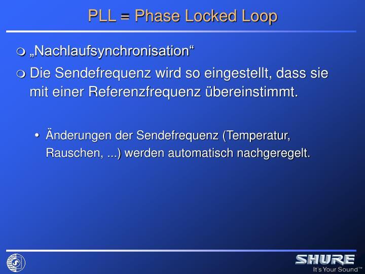 PLL = Phase Locked Loop