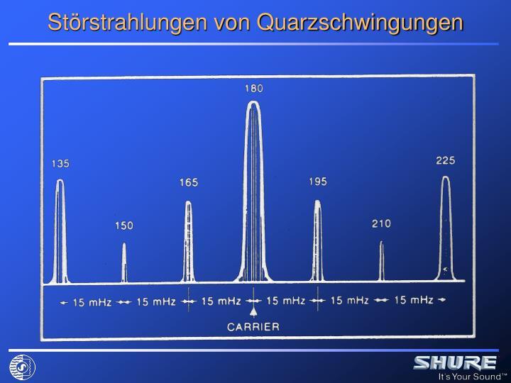 Störstrahlungen von Quarzschwingungen