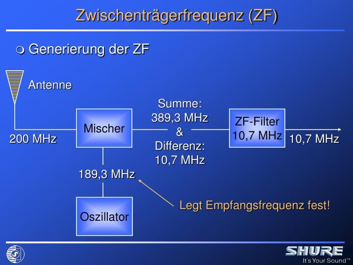 Zwischenträgerfrequenz (ZF)