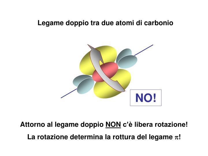 Legame doppio tra due atomi di carbonio