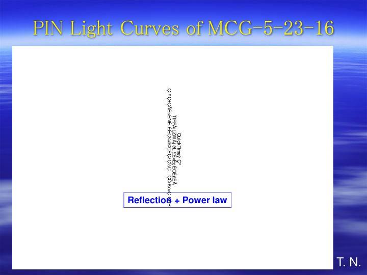 PIN Light Curves of MCG-5-23-16