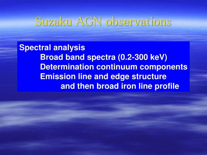 Suzaku AGN observations
