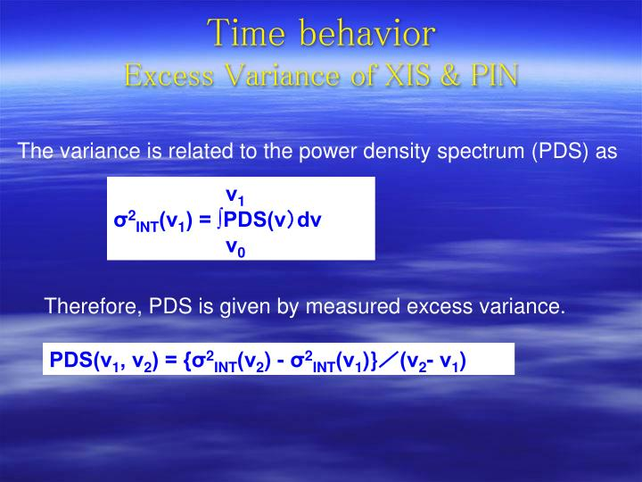 Therefore, PDS is given by measured excess variance.
