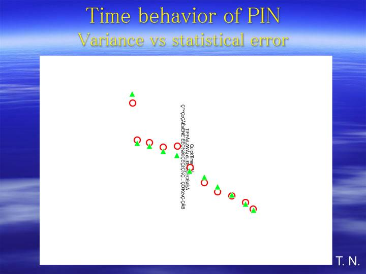 Time behavior of PIN