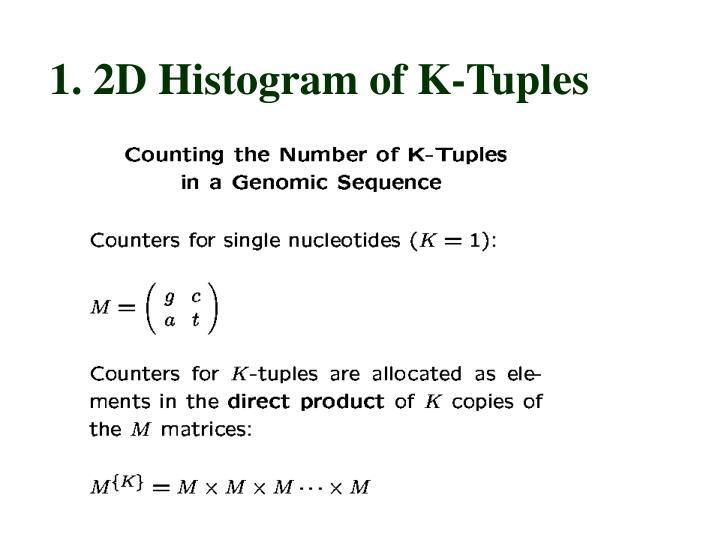 1. 2D Histogram of K-Tuples