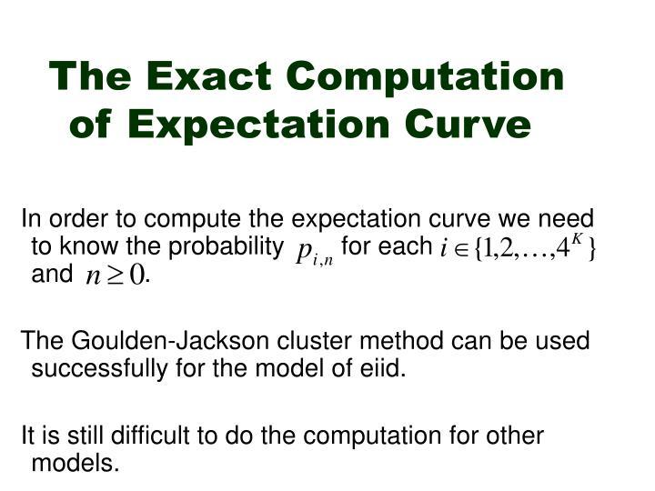 The Exact Computation of Expectation Curve