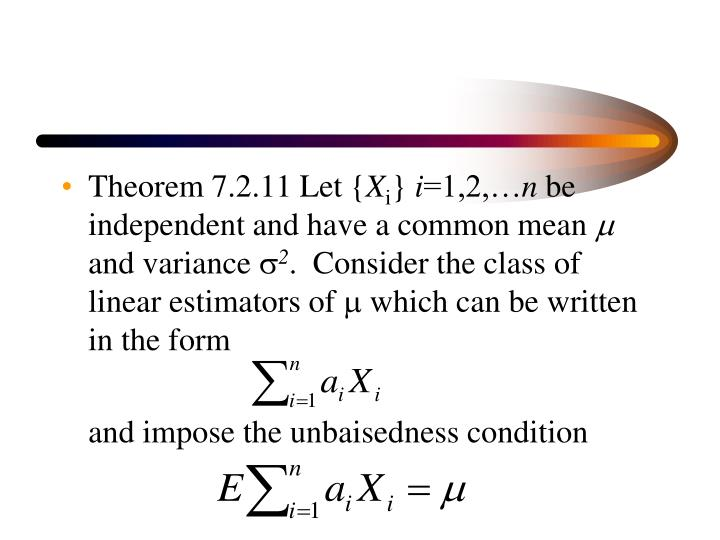 Theorem 7.2.11 Let {