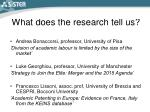 what does the research tell us