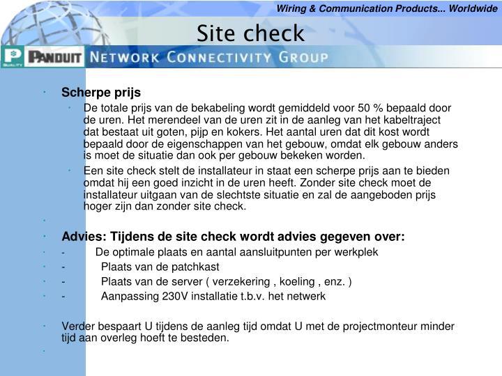 Site check