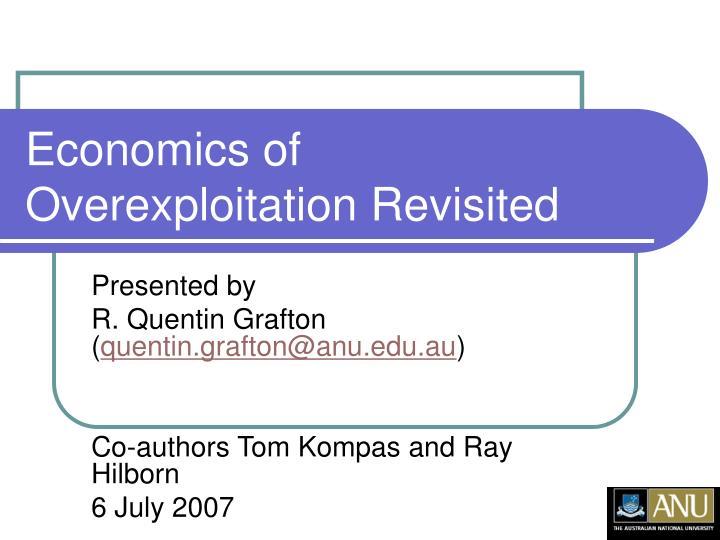 economics of overexploitation revisited n.