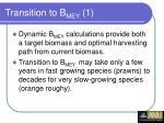 transition to b mey 1