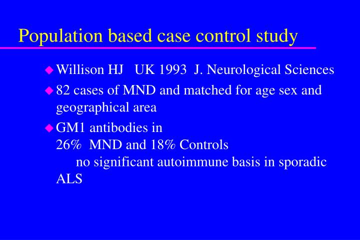 Population based case control study