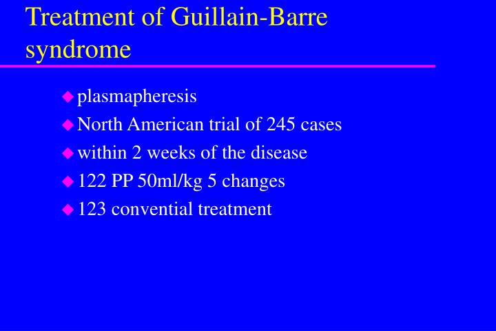 Treatment of Guillain-Barre syndrome