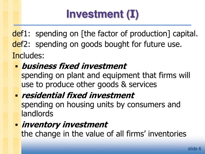 Investment (