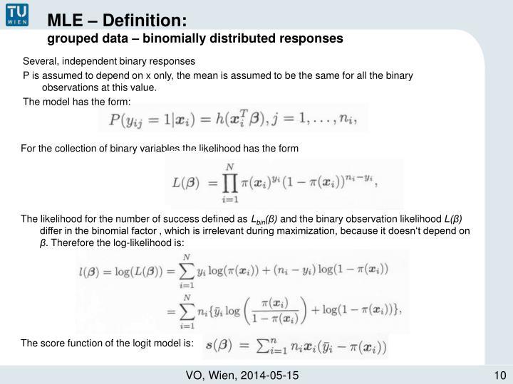 MLE – Definition: