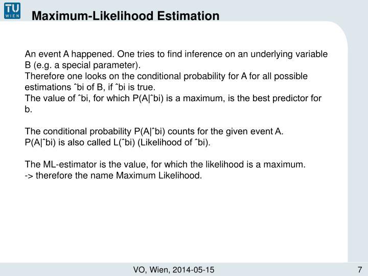 Maximum-Likelihood Estimation