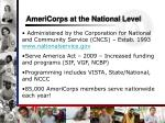 americorps at the national level