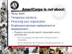 americorps is not about