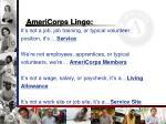 americorps lingo