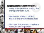 organizational capability 25