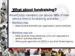 what about fundraising