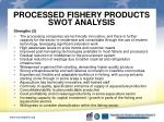 processed fishery products swot analysis1