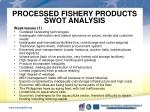 processed fishery products swot analysis2