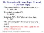 the connection between input demand output supply2