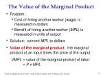 the value of the marginal product