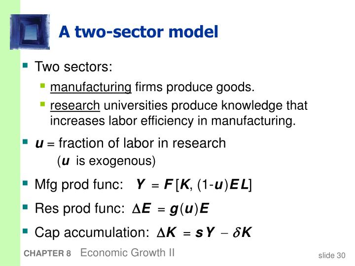 A two-sector model