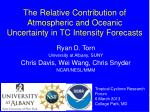 the relative contribution of atmospheric and oceanic uncertainty in tc intensity forecasts