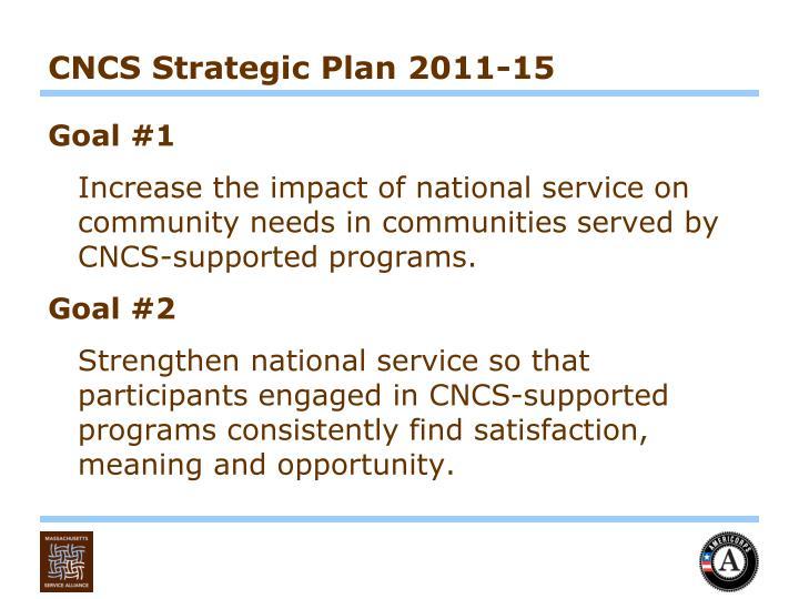 CNCS Strategic Plan 2011-15