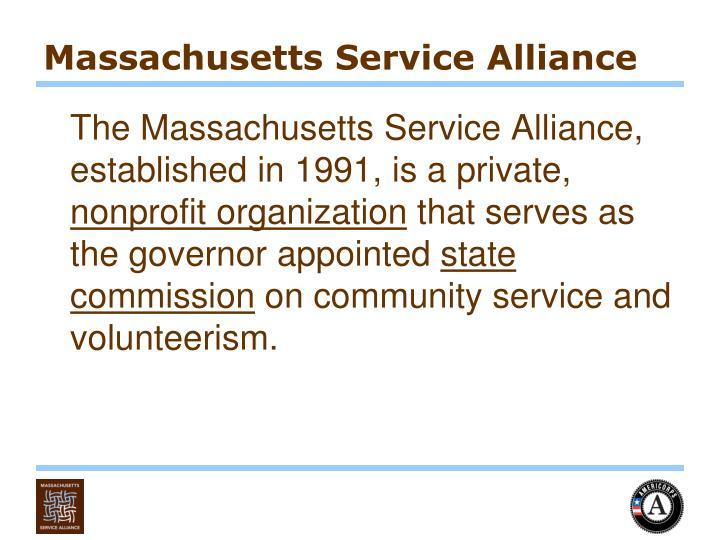 Massachusetts service alliance