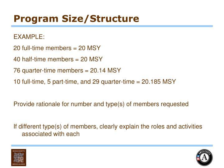 Program Size/Structure
