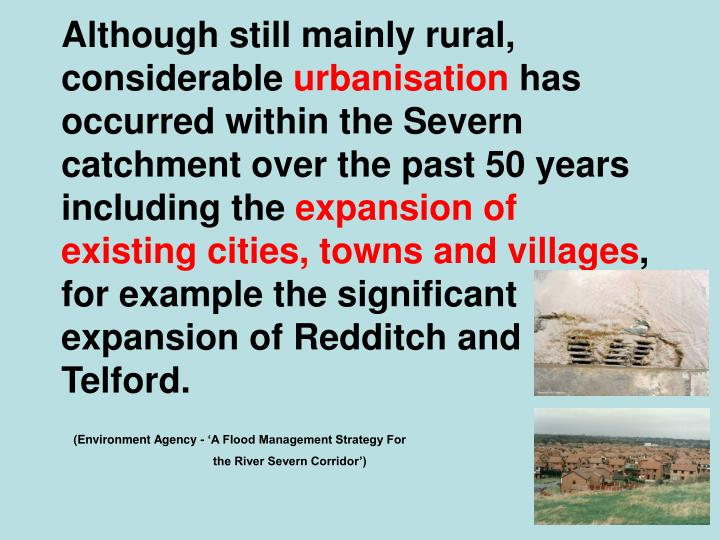 Although still mainly rural, considerable