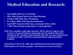medical education and research