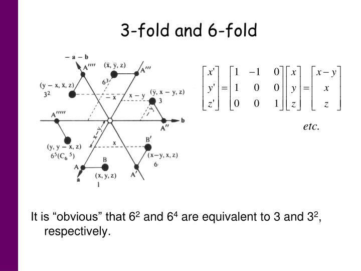 3-fold and 6-fold