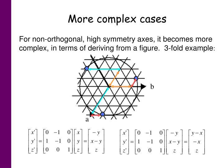 More complex cases