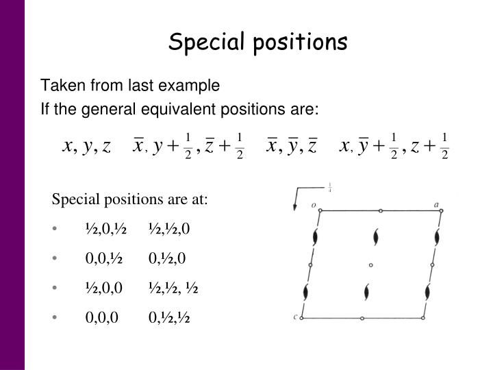 Special positions