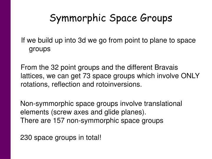 Symmorphic Space Groups