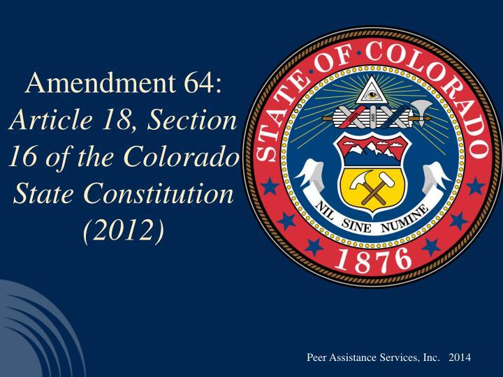 Amendment 64: