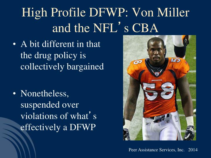 High Profile DFWP: Von Miller and the NFL