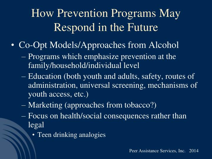 How Prevention Programs May Respond in the Future