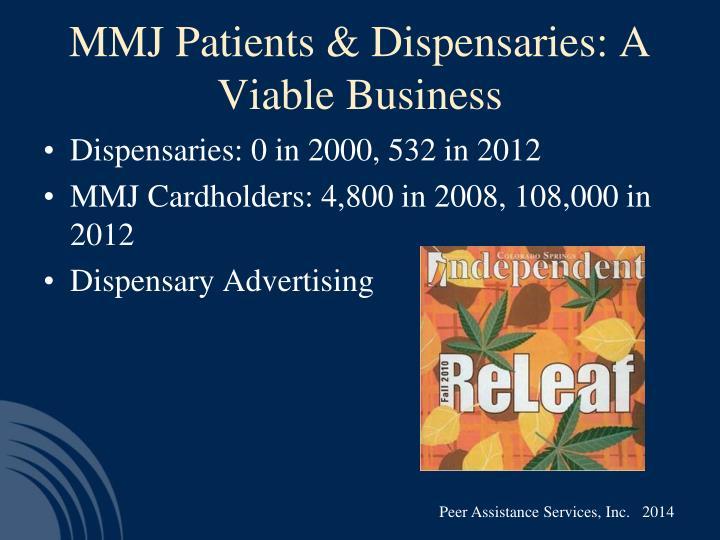 MMJ Patients & Dispensaries: A Viable Business